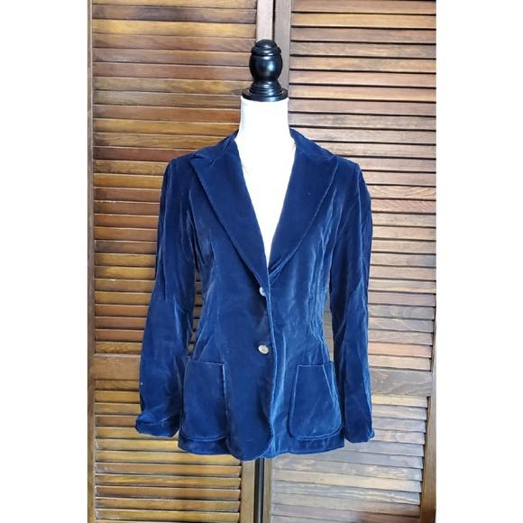 Women/'s Knit Tan Blazer with Pockets Size Medium Koret of California